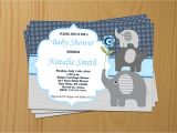 Baby Shower Invitations and Thank You Cards Elephant Baby Shower Invitation Boy Baby Shower Invitations