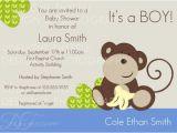 Baby Shower Invitations Boy Monkey theme Baby Shower Baby Boy Monkey theme Invitation Printable