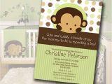 Baby Shower Invitations Boy Monkey theme Monkey Baby Shower Invitation Matches Mod Pod Pop Monkey