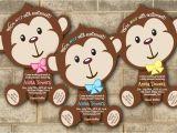 Baby Shower Invitations Boy Monkey theme Monkey Baby Shower Invitations Jungle Baby Shower Invitation