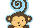 Baby Shower Invitations Boy Monkey theme Monkey Boy Shaped Baby Shower Invitations