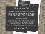 Baby Shower Invitations Bring A Book Instead Of Card Please Bring A Book Instead Of A Card Insert for Baby
