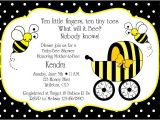 Baby Shower Invitations Bumble Bee theme I Like the Saying at the top Bumble Bee Baby Shower