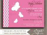 Baby Shower Invitations butterfly theme butterfly Baby Shower Invitation Girl butterfly Baby