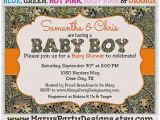 Baby Shower Invitations Camouflage Hunting Baby Shower Invitation Unique Camo Boy Baby Shower