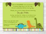 Baby Shower Invitations Dinosaur theme Cute Dinosaur Baby Shower Invitation Dinosaur Baby