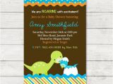 Baby Shower Invitations Dinosaur theme Dinosaur Baby Shower Invitation Dinosaur Baby by