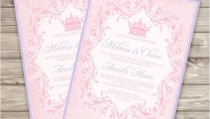 Baby Shower Invitations Dollar Tree Template Printable Princess Baby Shower Invitations at
