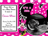 Baby Shower Invitations for Girls Minnie Mouse Baby Shower Invitations Minnie Mouse Baby Shower