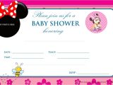 Baby Shower Invitations for Girls Minnie Mouse Free Printable Mickey Mouse Baby Shower Invitation
