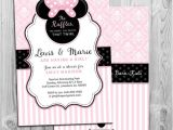 Baby Shower Invitations for Girls Minnie Mouse Minnie Mouse Baby Shower Invitation Printable Invite Pink