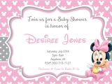 Baby Shower Invitations for Girls Minnie Mouse Minnie Mouse Baby Shower Invitations Templates