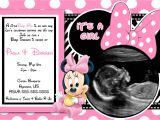 Baby Shower Invitations for Girls Minnie Mouse Pink Minnie Mouse Baby Shower Invitations