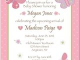 Baby Shower Invitations for Girls Wording Wording for Baby Shower Invitation