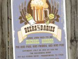Baby Shower Invitations for Men Beers and Babies Male Baby Shower Invitation for by