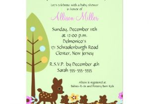 Baby Shower Invitations for Triplets Baby Deer Triplets Baby Shower Invitation