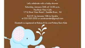 Baby Shower Invitations for Triplets Mama & Baby Elephants Triplets Baby Shower Invitation