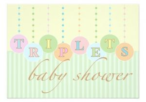 Baby Shower Invitations for Triplets Triplets Baby Shower Invitation