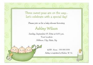 "Baby Shower Invitations for Triplets Triplets Baby Shower Invitations 5"" X 7"" Invitation Card"