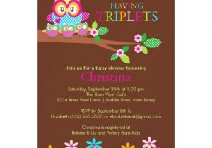 Baby Shower Invitations for Triplets Triplets Owl Baby Shower Invitations