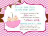Baby Shower Invitations for Twin Girls Twin Baby Girl Shower Invitations