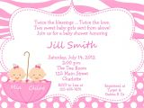 Baby Shower Invitations for Twin Girls Twin Baby Girls Shower Invitation Twins by thebutterflypress