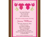 "Baby Shower Invitations for Twin Girls Twin Girls Baby Shower Invitation 5"" X 7"" Invitation Card"