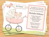 Baby Shower Invitations for Twin Girls Twin Girls Baby Shower Invitation by eventfulcards