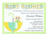 Baby Shower Invitations for Unknown Gender Gender Unknown Umbrella Baby Shower Invitation