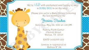 Baby Shower Invitations Giraffe theme Baby Shower Invitations Giraffe theme