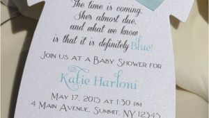 Baby Shower Invitations Ideas Baby Shower Invitation for Boy In Shape Of Esie with