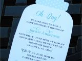 Baby Shower Invitations In A Bottle Blue Bottle Baby Shower Invitation