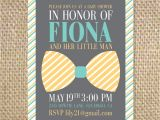 Baby Shower Invitations In Honor Of Baby Shower Bow Tie Invitations Choice Image Baby Shower