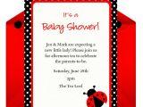 Baby Shower Invitations Ladybug theme Host A Ladybug Baby Shower