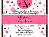 Baby Shower Invitations Ladybug theme Ladybug Baby Shower Invitations Babyshower4u