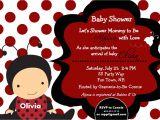Baby Shower Invitations Ladybug theme Ladybug Baby Shower Invitations Dolanpedia Invitations