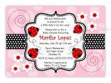 Baby Shower Invitations Ladybug theme Ladybug Baby Shower Invitations Etsy Free Invitations Ideas