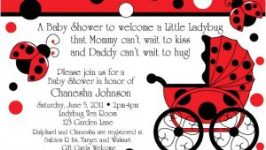Baby Shower Invitations Ladybug theme Ladybug Buggy Baby Shower Invitations Birthday Party Ideas