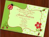 Baby Shower Invitations Ladybug theme Ladybug theme Baby Shower Invitation Little by