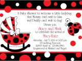 Baby Shower Invitations Ladybug theme Pink and Brown Ladybug Baby Shower Invitations Free