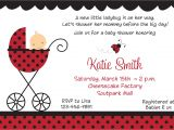 Baby Shower Invitations Ladybug theme Template Ladybug Baby Shower Invitations