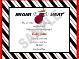 Baby Shower Invitations Miami solutions event Design by Kelly Miami Heat theme Baby
