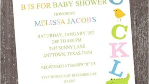 Baby Shower Invitations On Sale On Sale Alphabet Baby Shower Invitations by Pmcinvitations