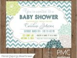 Baby Shower Invitations On Sale On Sale Custom Printed Chevron Floral Baby Shower