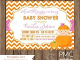 Baby Shower Invitations On Sale On Sale Custom Printed Girl Pumpkin Baby Shower