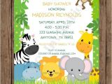 Baby Shower Invitations On Sale On Sale Custom Printed Wild Animals Jungle Safari Baby