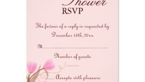 "Baby Shower Invitations Online Rsvp Brown & Pink Floral Design Baby Shower Rsvp Card 3 5"" X 5"