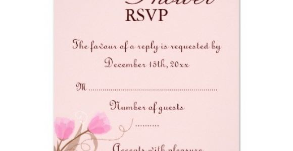 """Baby Shower Invitations Online Rsvp Brown & Pink Floral Design Baby Shower Rsvp Card 3 5"""" X 5"""