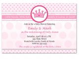 Baby Shower Invitations Target Template Printable Princess Baby Shower Invitations