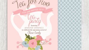 Baby Shower Invitations Tea Party theme Printable Tea Party Baby Shower Invitation Tea Pot Floral